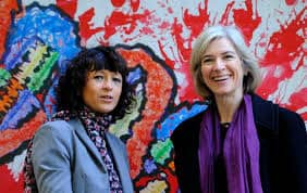 Emmanuelle Charpentier, left, and Jennifer A. Doudha